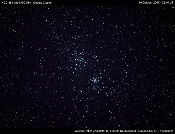 Double Cluster NGC 869 and NGC 884 - (c) copright Solar Worlds